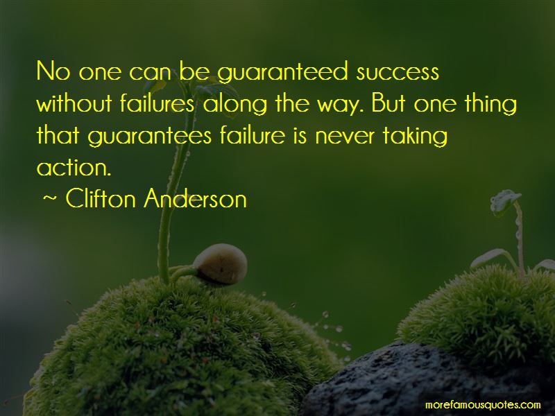 Clifton Anderson Quotes