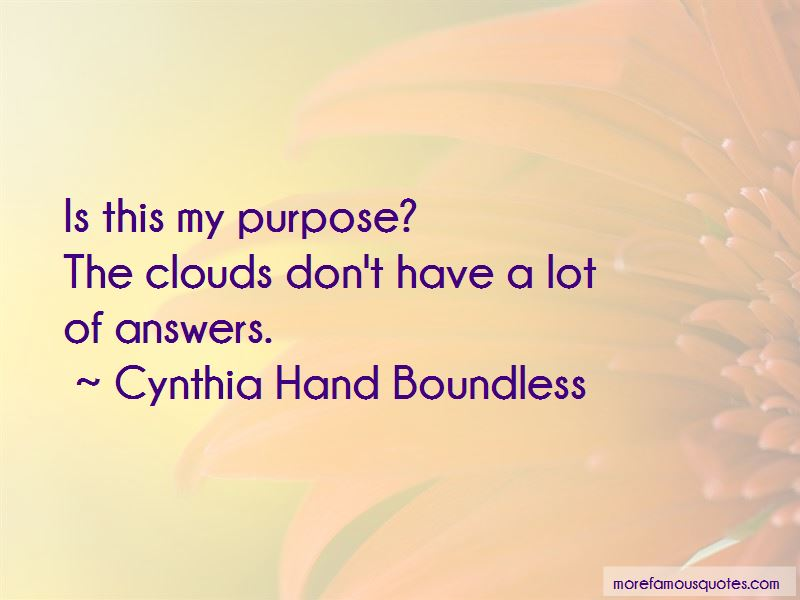 Cynthia Hand Boundless Quotes