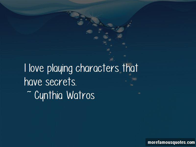 Cynthia Watros Quotes Pictures 3
