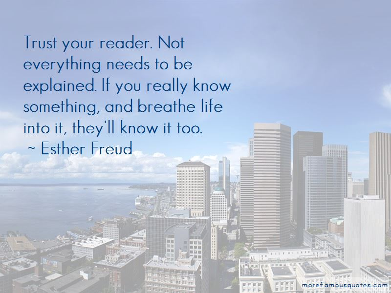 Esther Freud Quotes