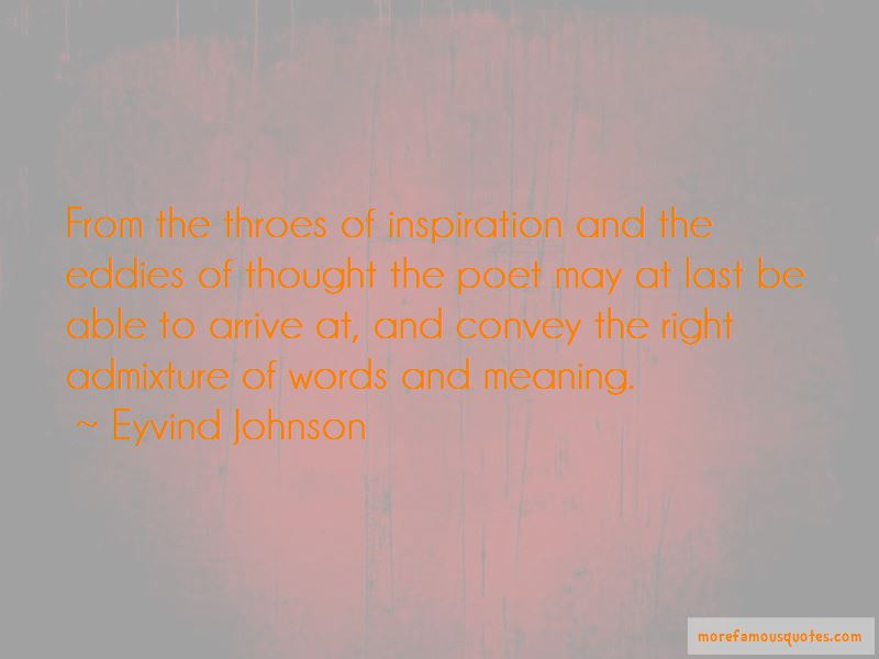 Eyvind Johnson Quotes Pictures 3