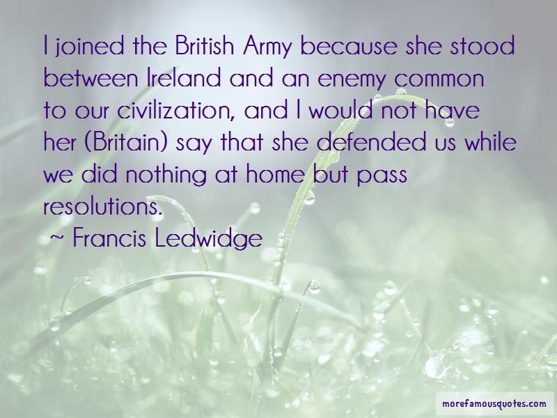 Francis Ledwidge Quotes