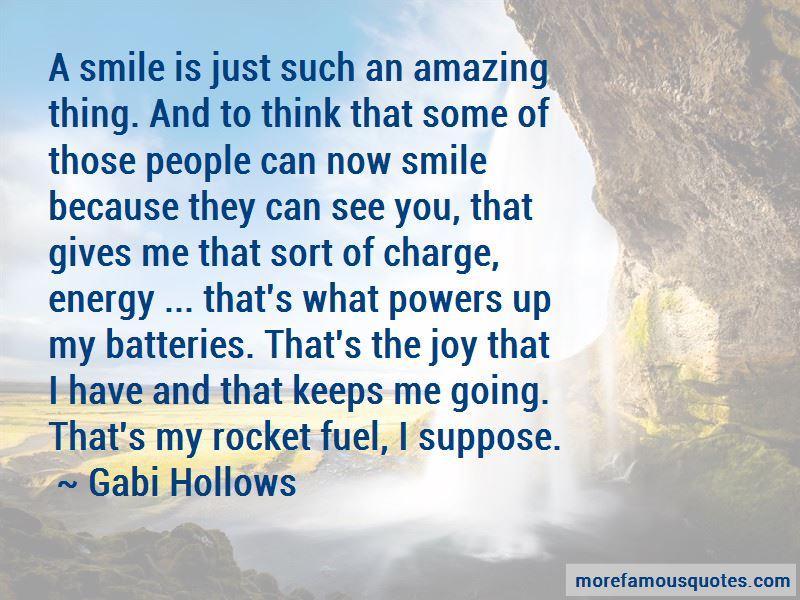 Gabi Hollows Quotes