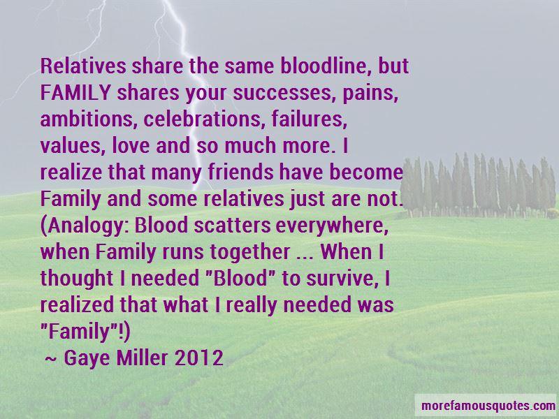 Gaye Miller 2012 Quotes