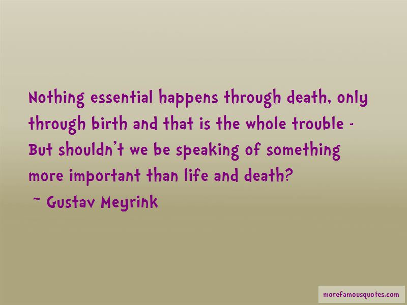 Gustav Meyrink Quotes Pictures 2