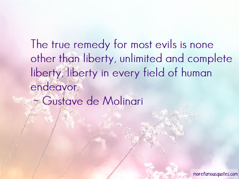 Gustave De Molinari Quotes