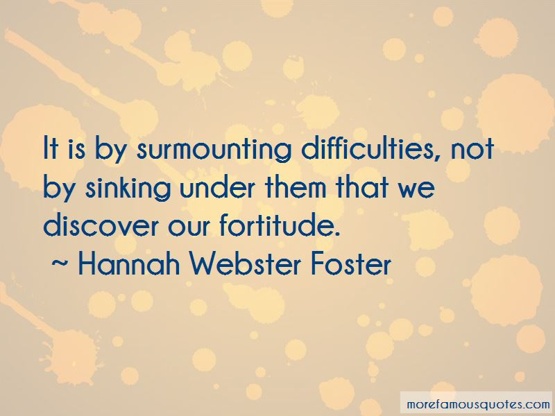 Hannah Webster Foster Quotes