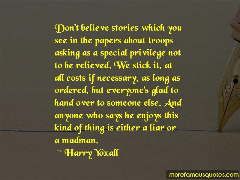 Harry Yoxall Quotes