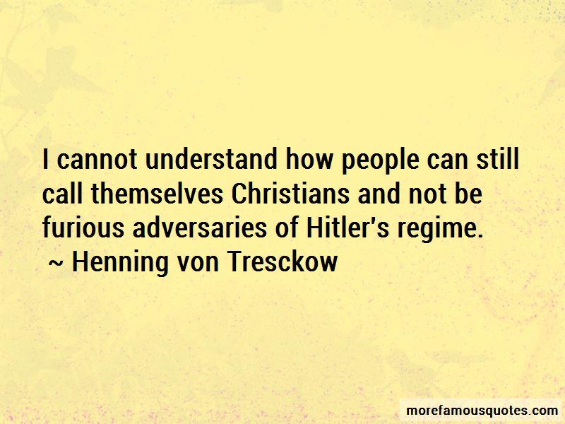 Henning Von Tresckow Quotes