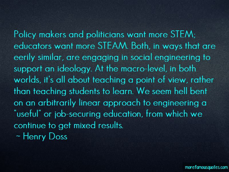 Henry Doss Quotes