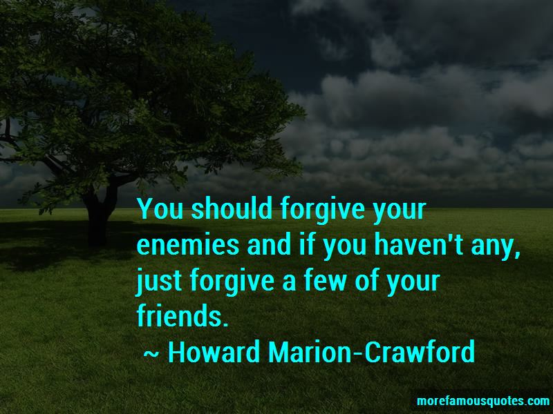 Howard Marion-Crawford Quotes Pictures 2