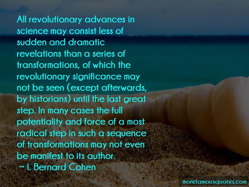 I. Bernard Cohen Quotes Pictures 3