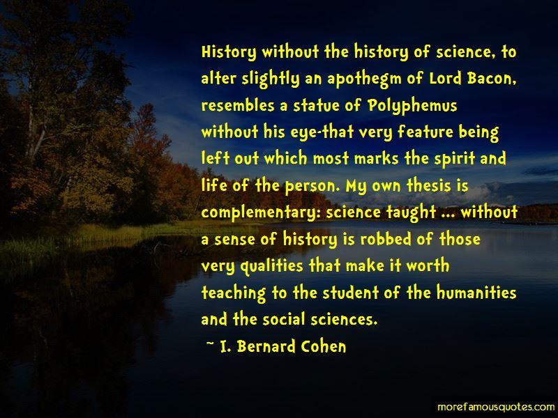 I. Bernard Cohen Quotes Pictures 4