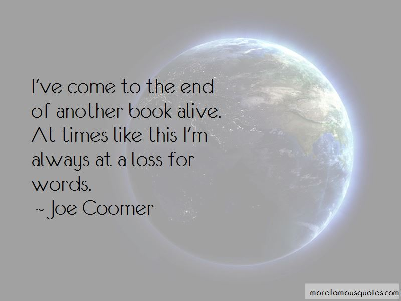 Joe Coomer Quotes Pictures 2