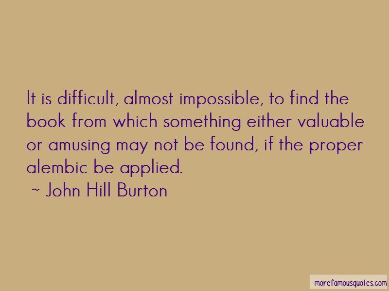 John Hill Burton Quotes