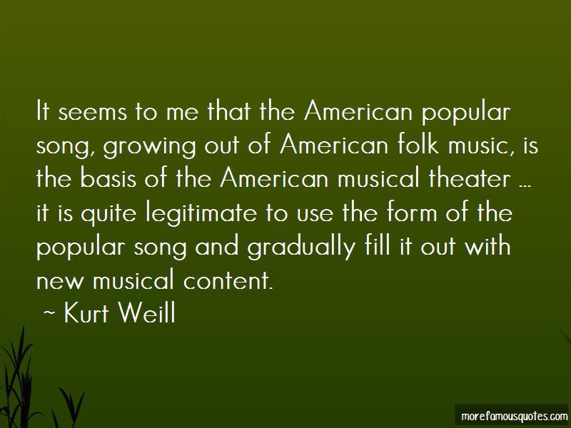 Kurt Weill Quotes