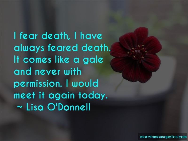 Lisa O'Donnell Quotes