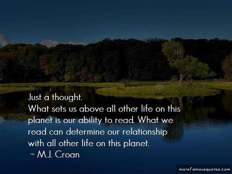 M.J. Croan Quotes