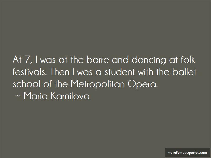 Maria Karnilova Quotes Pictures 3
