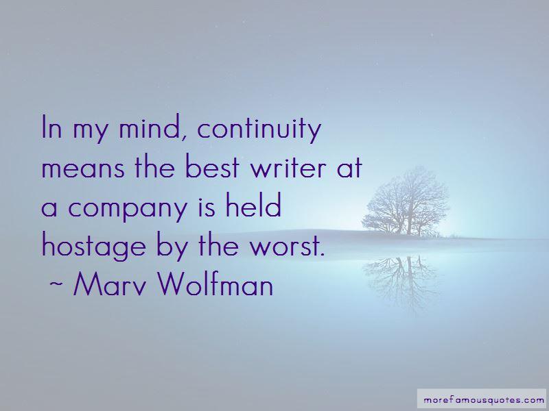 Marv Wolfman Quotes