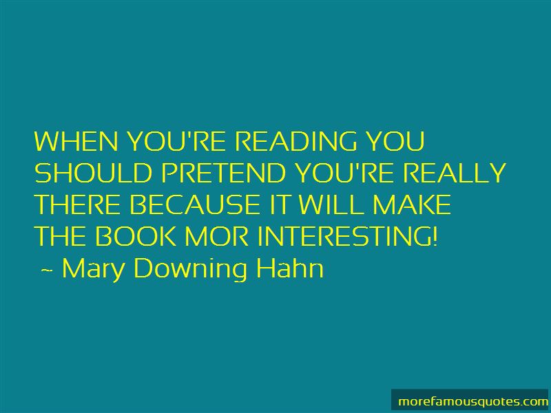 Mary Downing Hahn Quotes Pictures 2