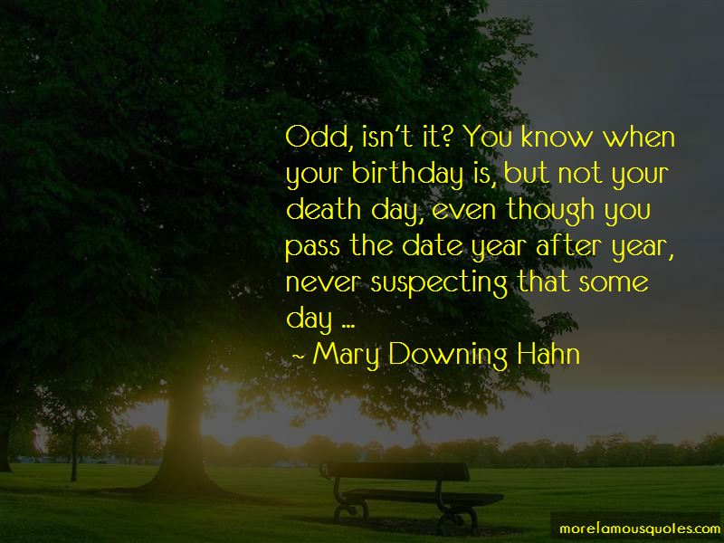 Mary Downing Hahn Quotes Pictures 4