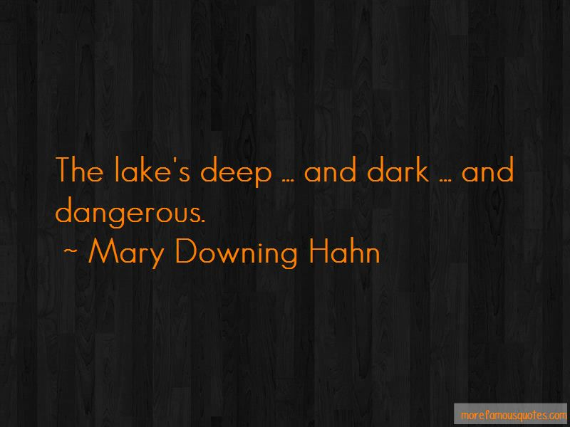 Mary Downing Hahn Quotes