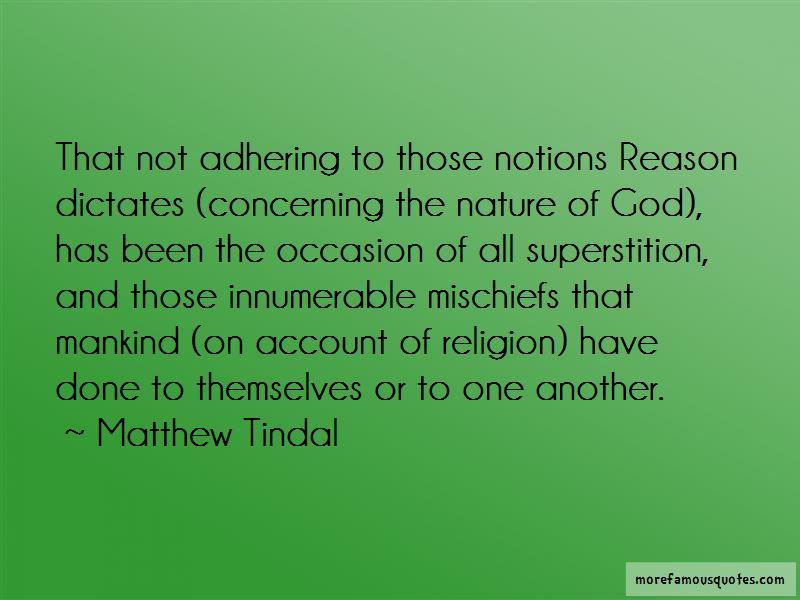 Matthew Tindal Quotes