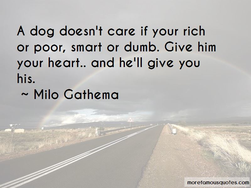 Milo Gathema Quotes