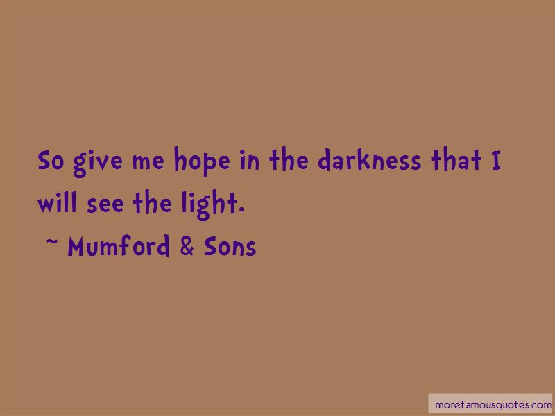 Mumford & Sons Quotes