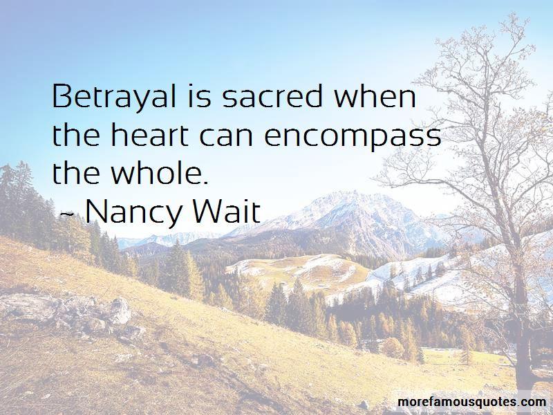 Nancy Wait Quotes