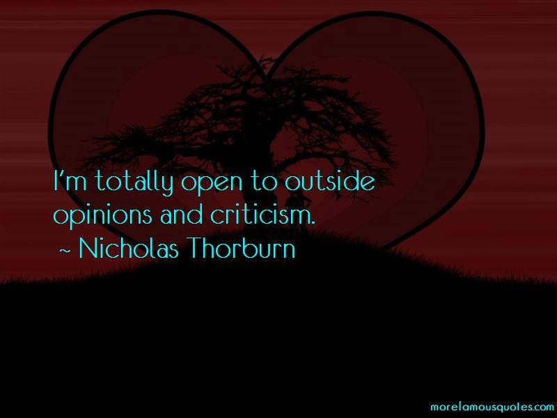 Nicholas Thorburn Quotes Pictures 4