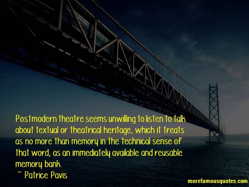 Patrice Pavis Quotes