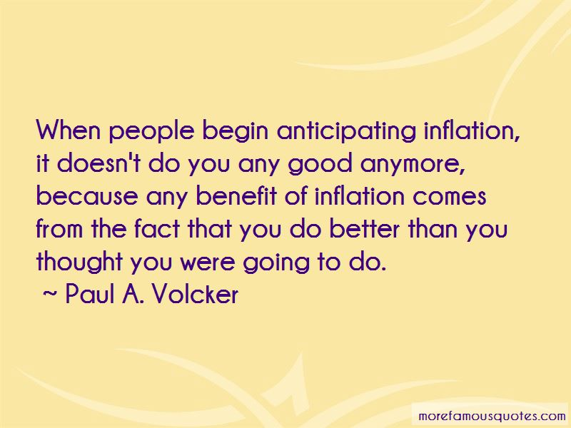 Paul A. Volcker Quotes