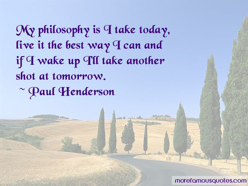 Paul Henderson Quotes Pictures 3