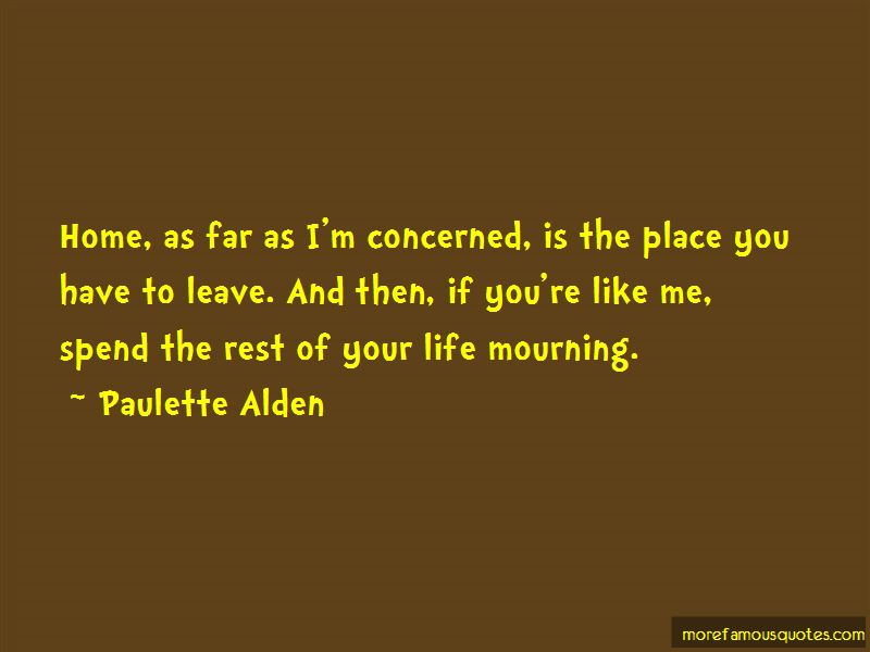Paulette Alden Quotes