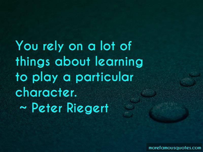 Peter Riegert Quotes