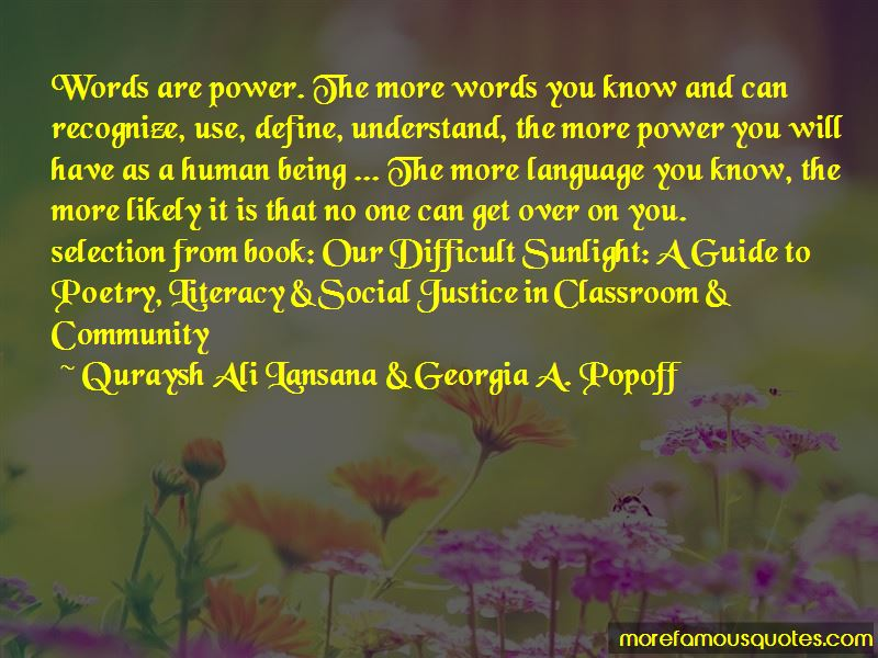 Quraysh Ali Lansana & Georgia A. Popoff Quotes