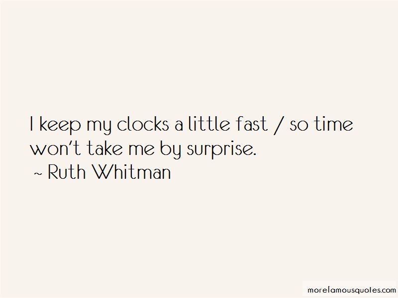 Ruth Whitman Quotes