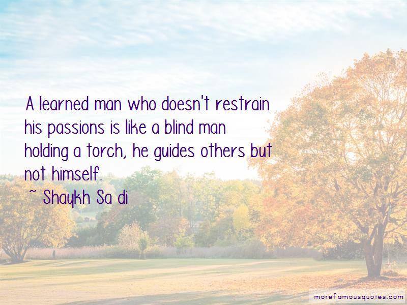 Shaykh Sa Di Quotes