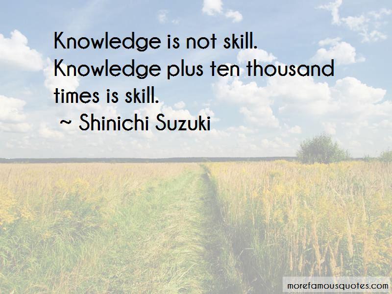Shinichi Suzuki Quotes