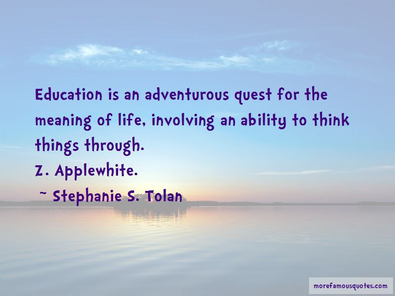 Stephanie S. Tolan Quotes Pictures 2
