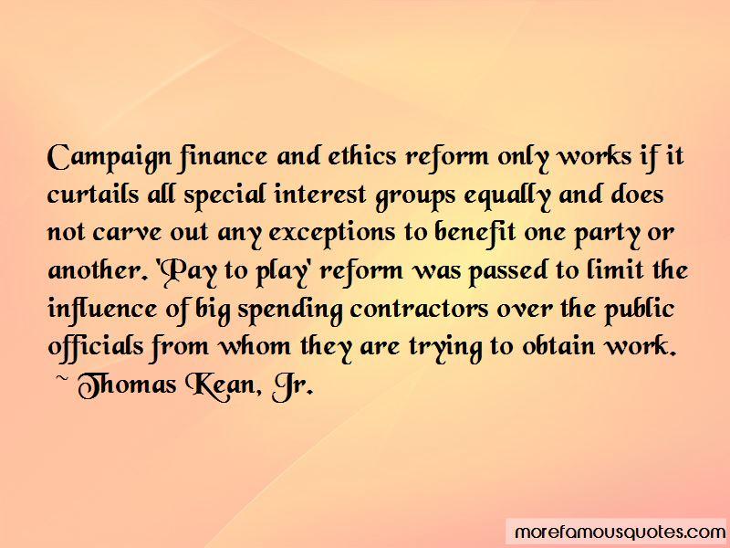 Thomas Kean, Jr. Quotes