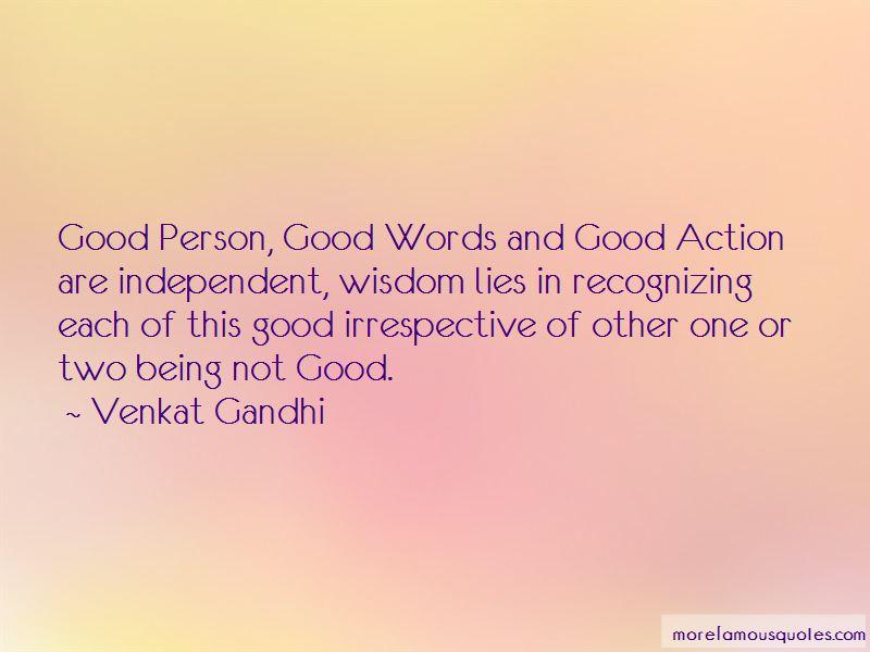 Venkat Gandhi Quotes