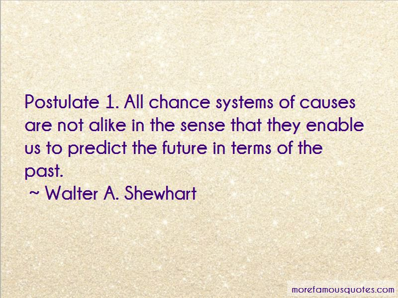 Walter A. Shewhart Quotes