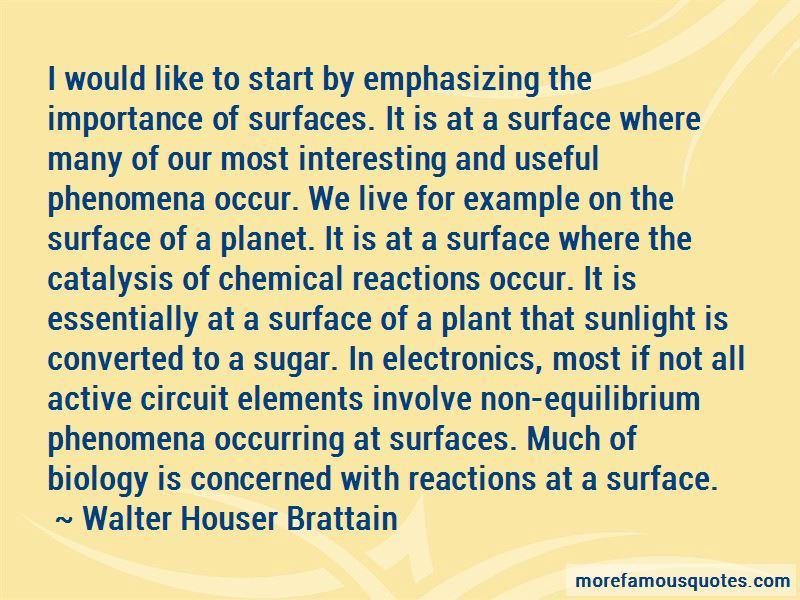 Walter Houser Brattain Quotes