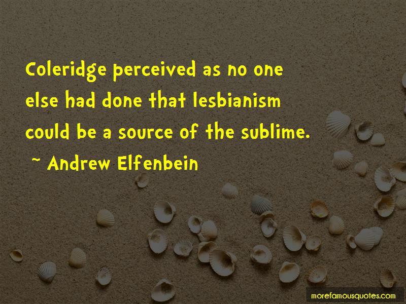 Andrew Elfenbein Quotes