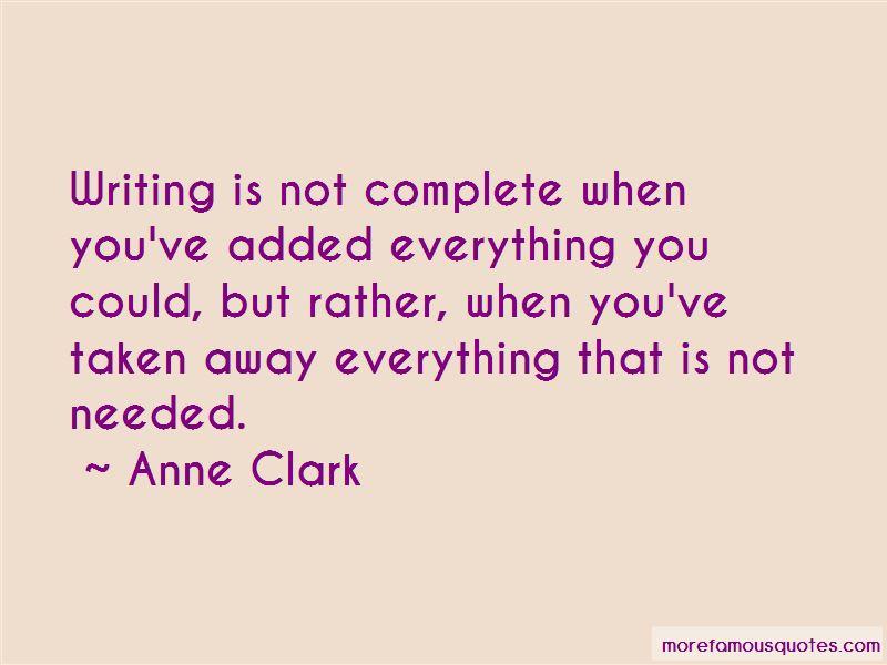 Anne Clark Quotes