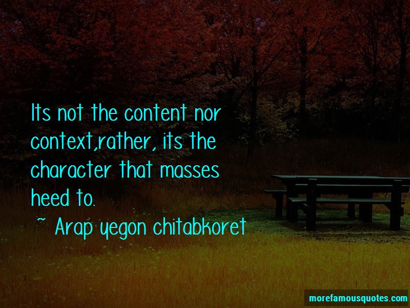 Arap Yegon Chitabkoret Quotes