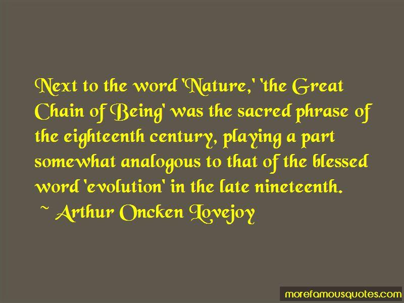 Arthur Oncken Lovejoy Quotes Pictures 2